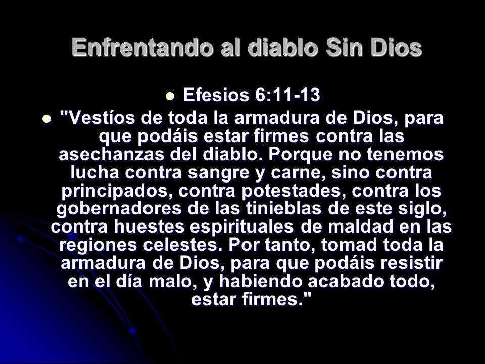 Enfrentando al diablo Sin Dios