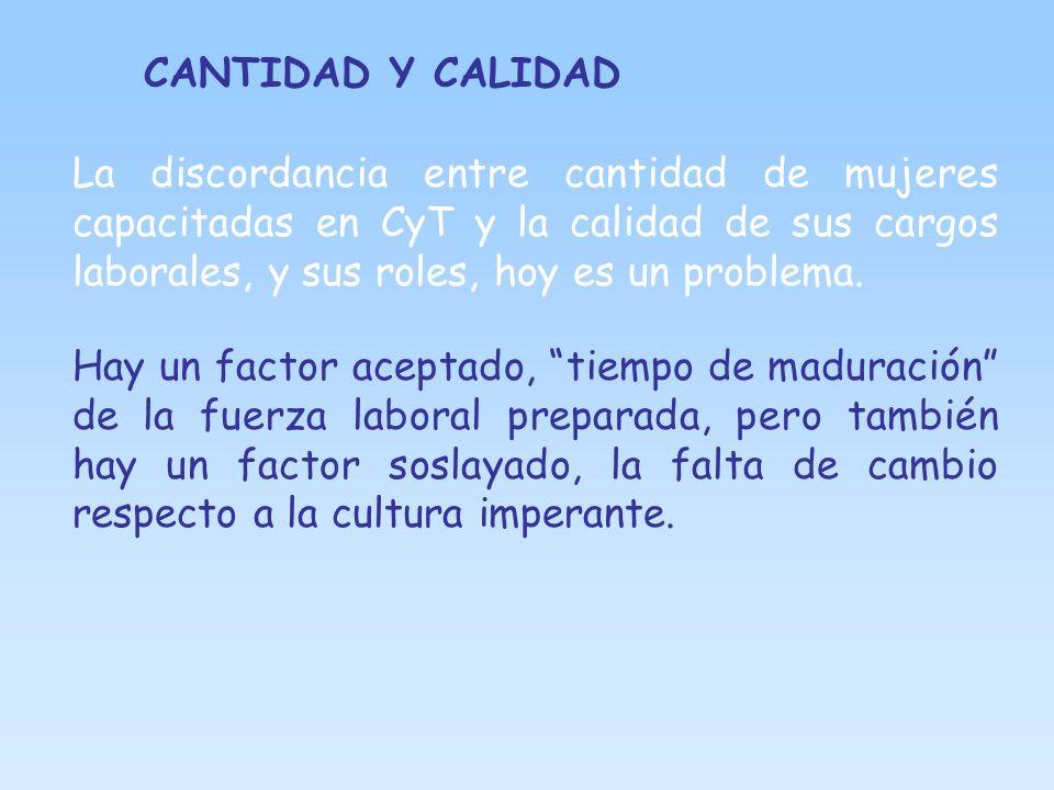 CANTIDAD Y CALIDAD