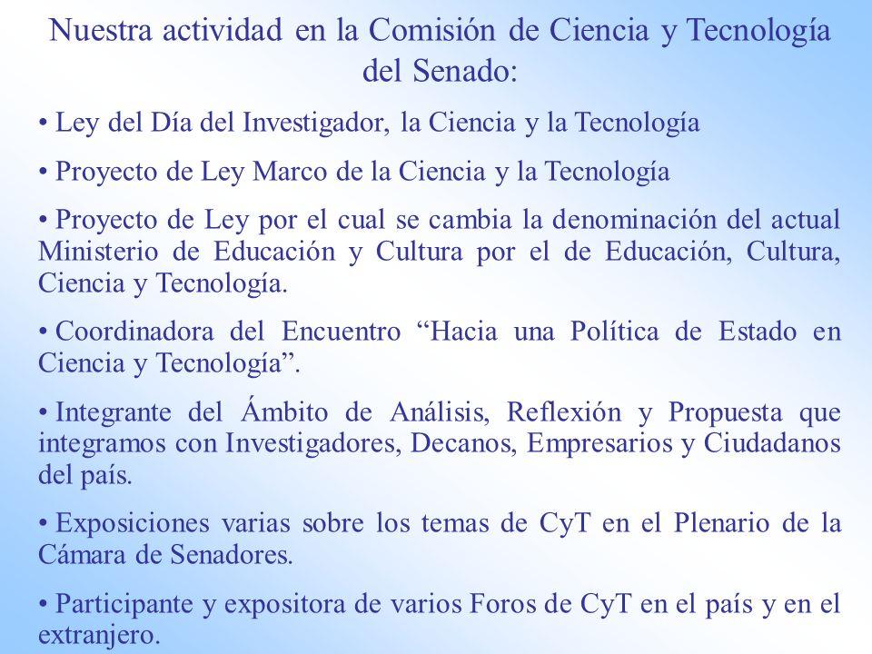 Nuestra actividad en la Comisión de Ciencia y Tecnología del Senado: