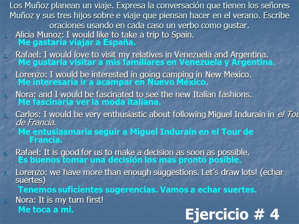 Los Muñoz planean un viaje