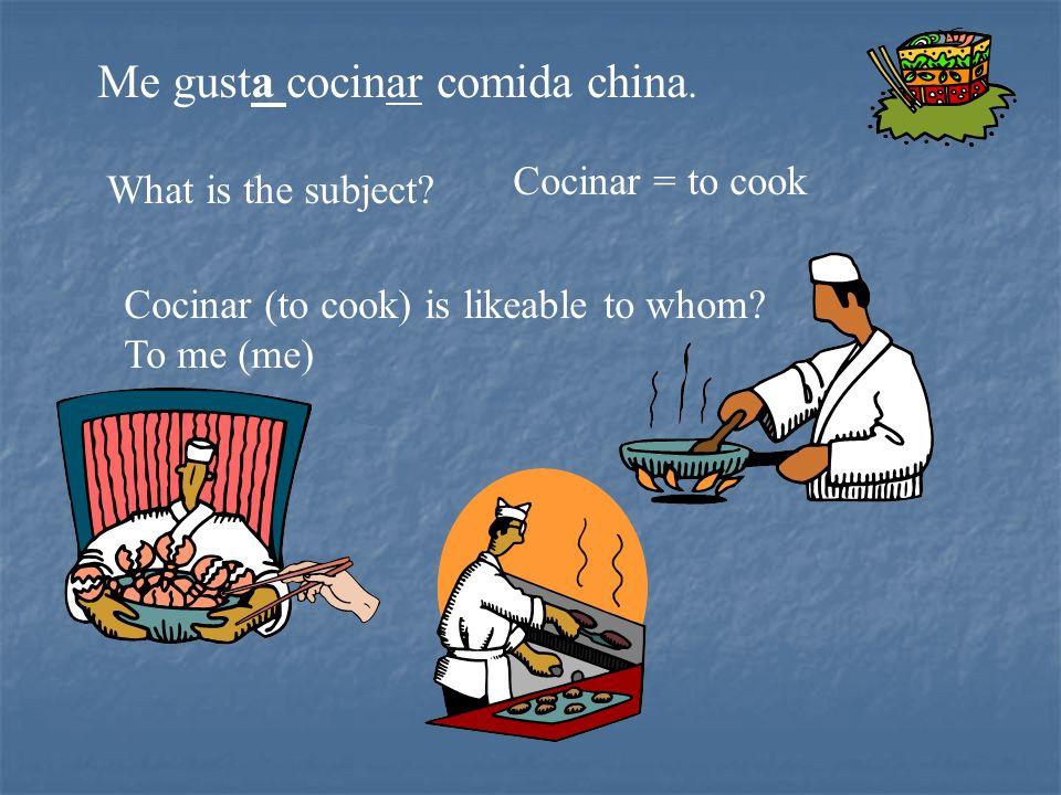 Me gusta cocinar comida china.