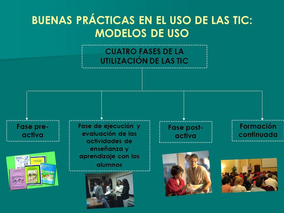 BUENAS PRÁCTICAS EN EL USO DE LAS TIC: MODELOS DE USO