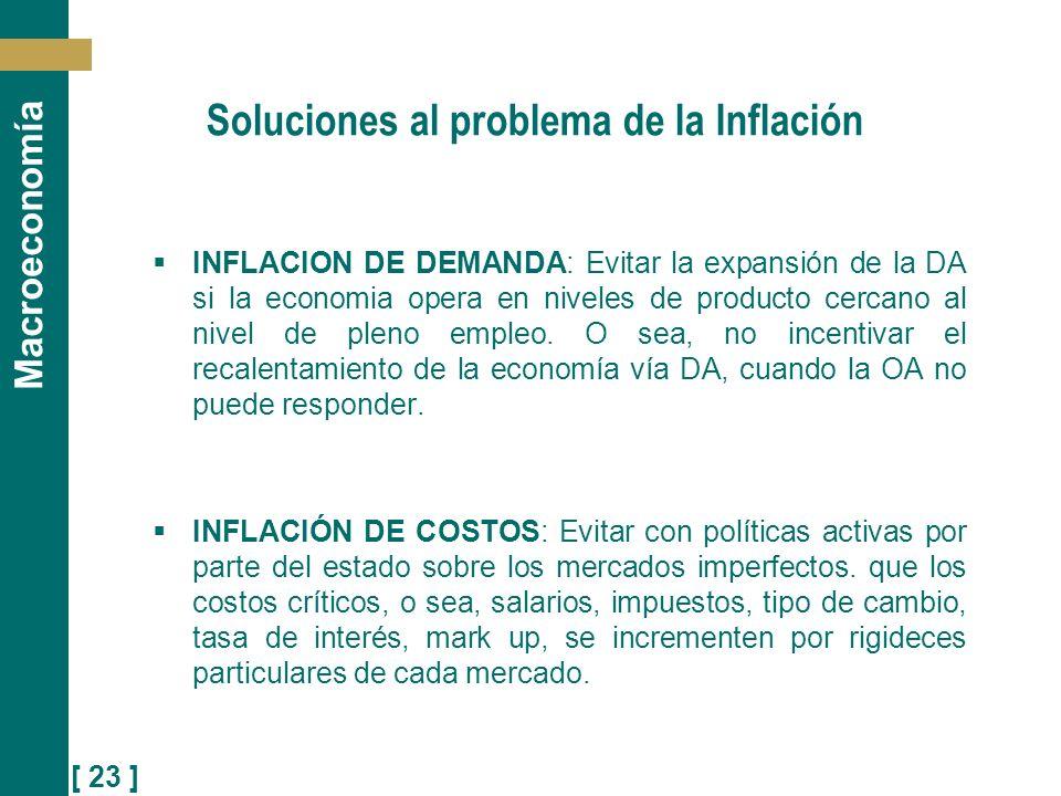 Soluciones al problema de la Inflación