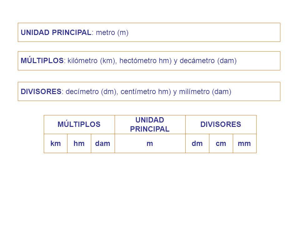 UNIDAD PRINCIPAL: metro (m)
