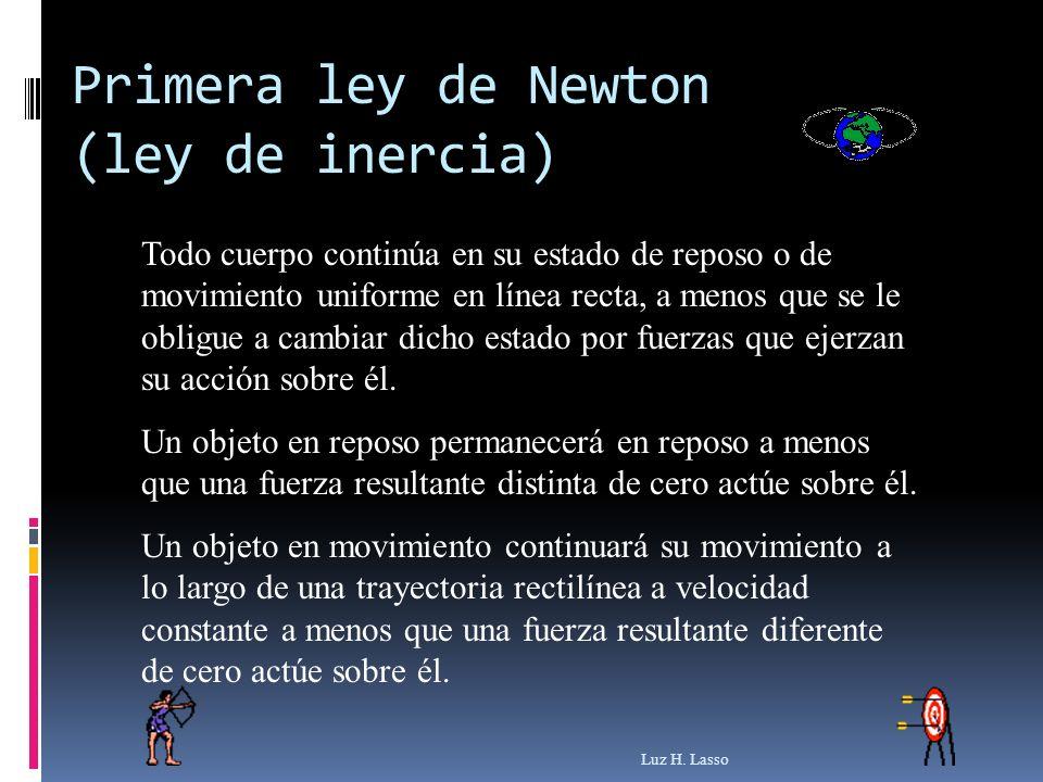 Primera ley de Newton (ley de inercia)
