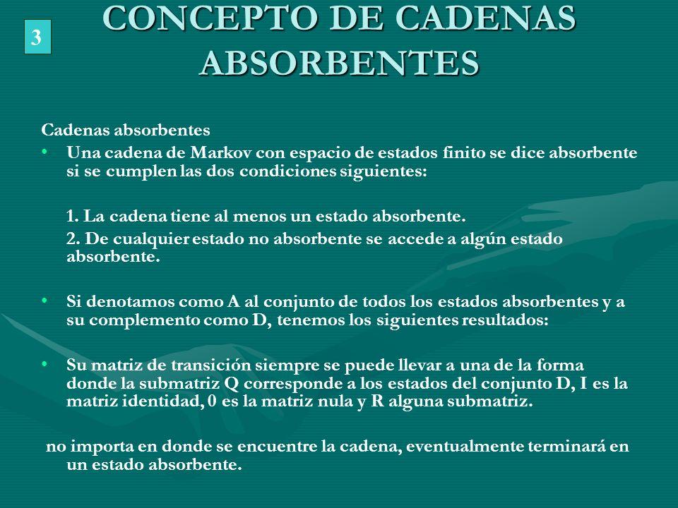 CONCEPTO DE CADENAS ABSORBENTES