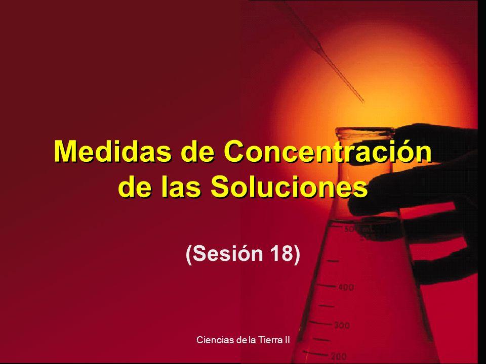 Medidas de Concentración de las Soluciones