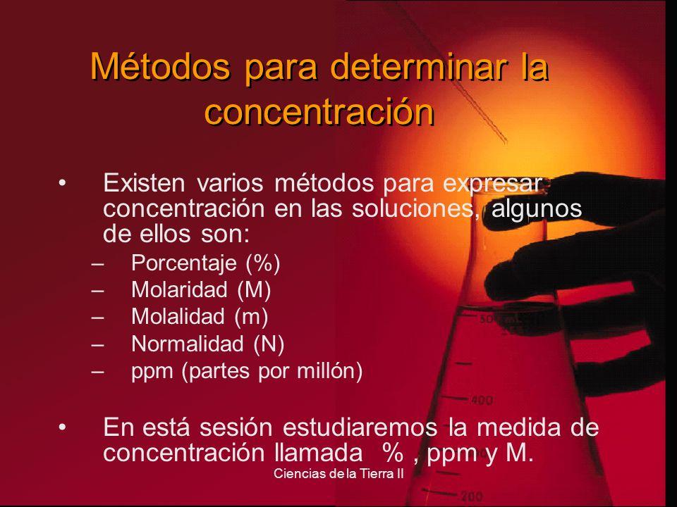 Métodos para determinar la concentración