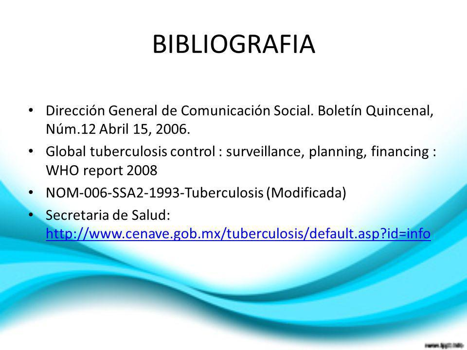 BIBLIOGRAFIADirección General de Comunicación Social. Boletín Quincenal, Núm.12 Abril 15, 2006.