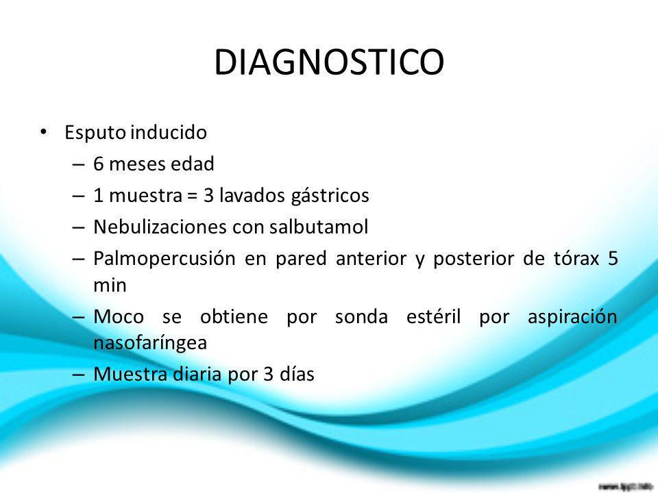 DIAGNOSTICO Esputo inducido 6 meses edad
