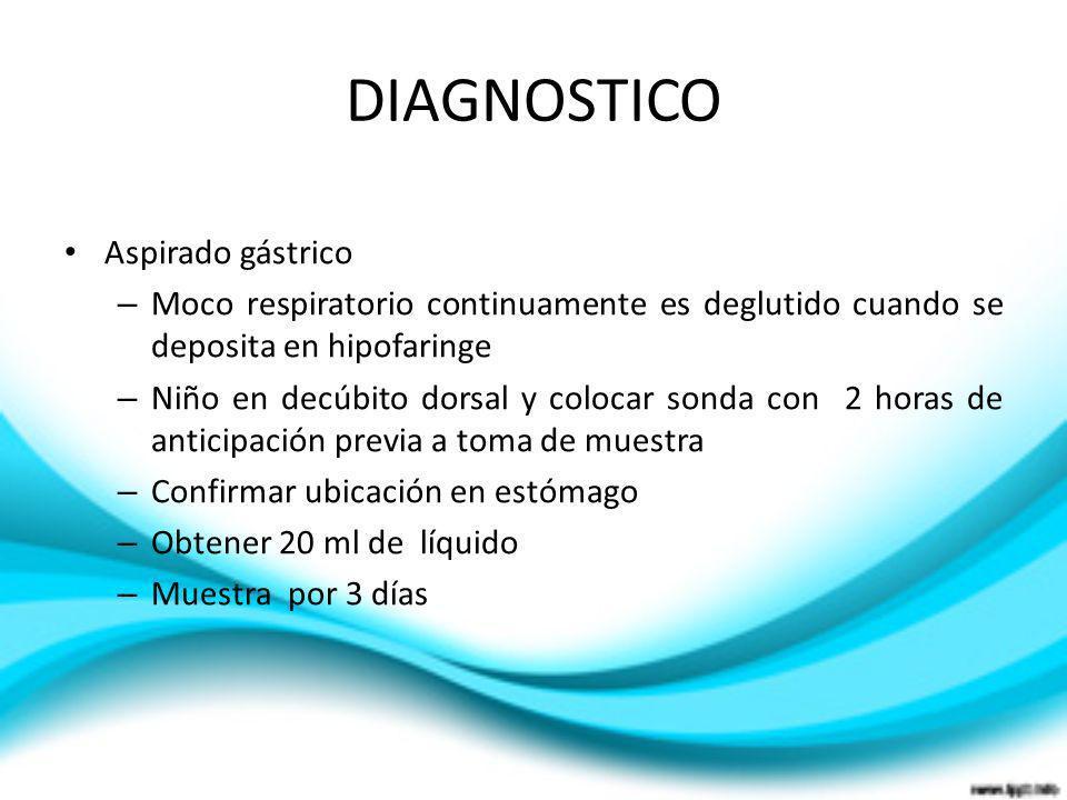 DIAGNOSTICO Aspirado gástrico