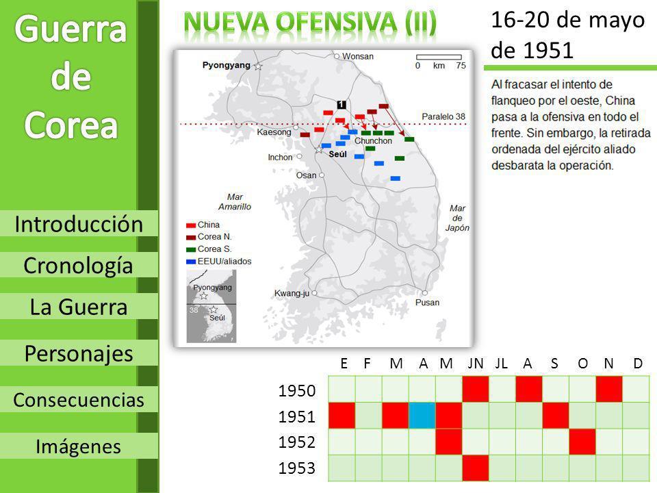 Guerra de Corea Nueva OFENSIVA (Ii) 16-20 de mayo de 1951 Introducción