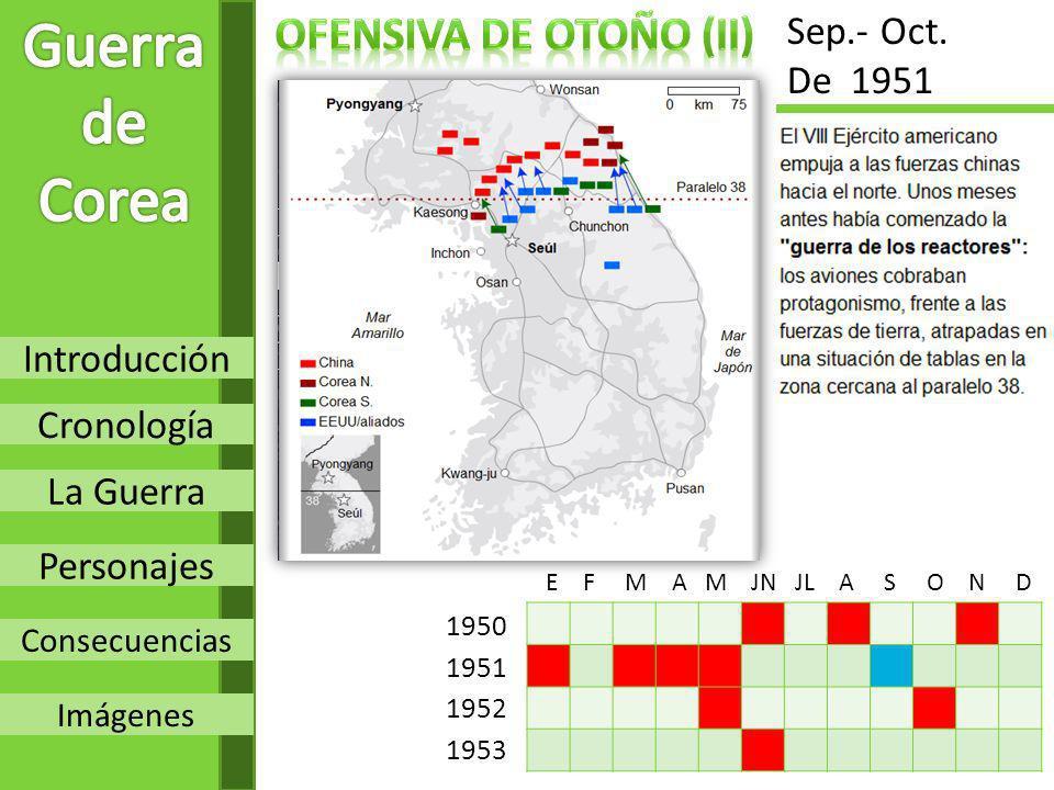 Guerra de Corea OFENSIVA de otoño (Ii) Sep.- Oct. De 1951 Introducción