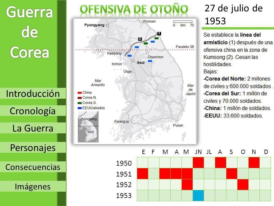 Guerra de Corea Ofensiva de otoño 27 de julio de 1953 Introducción