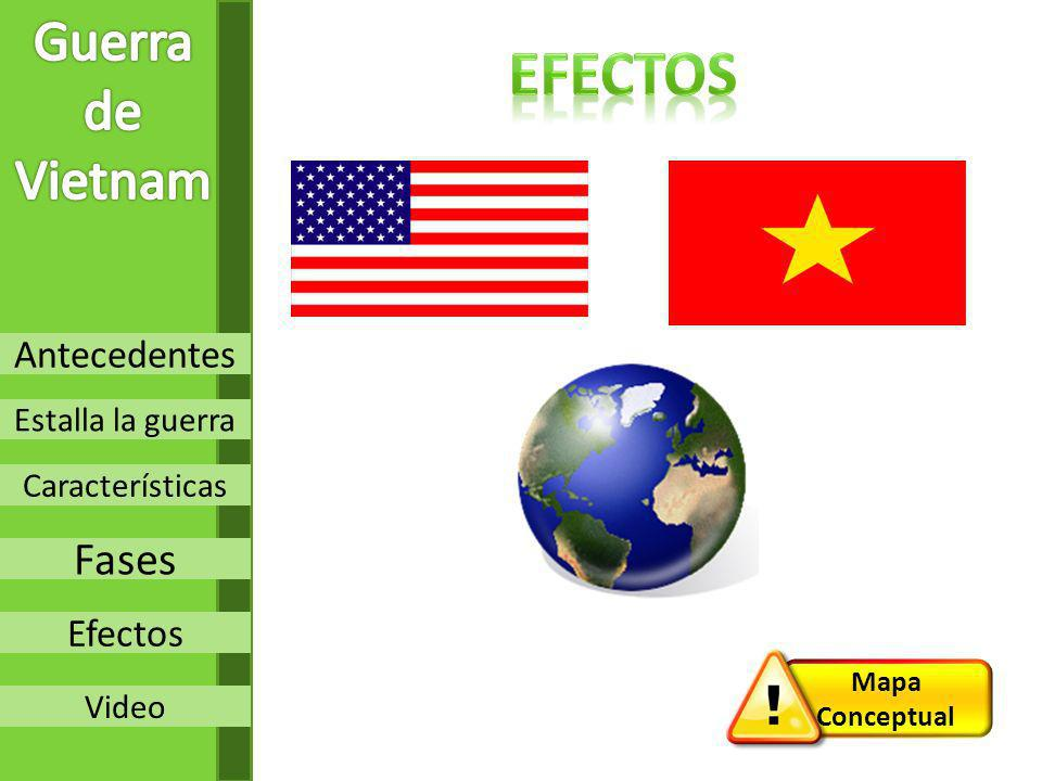 Efectos Guerra de Vietnam Fases Antecedentes Efectos Estalla la guerra
