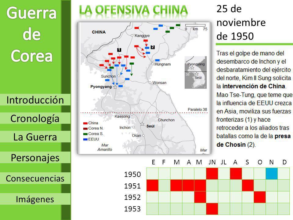 Guerra de Corea LA OFENsIVA CHINA 25 de noviembre de 1950 Introducción