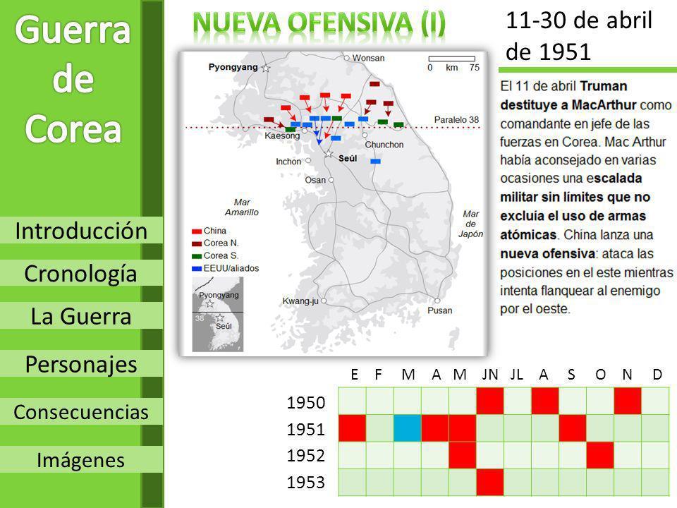 Guerra de Corea Nueva OFENSIVA (I) 11-30 de abril de 1951 Introducción