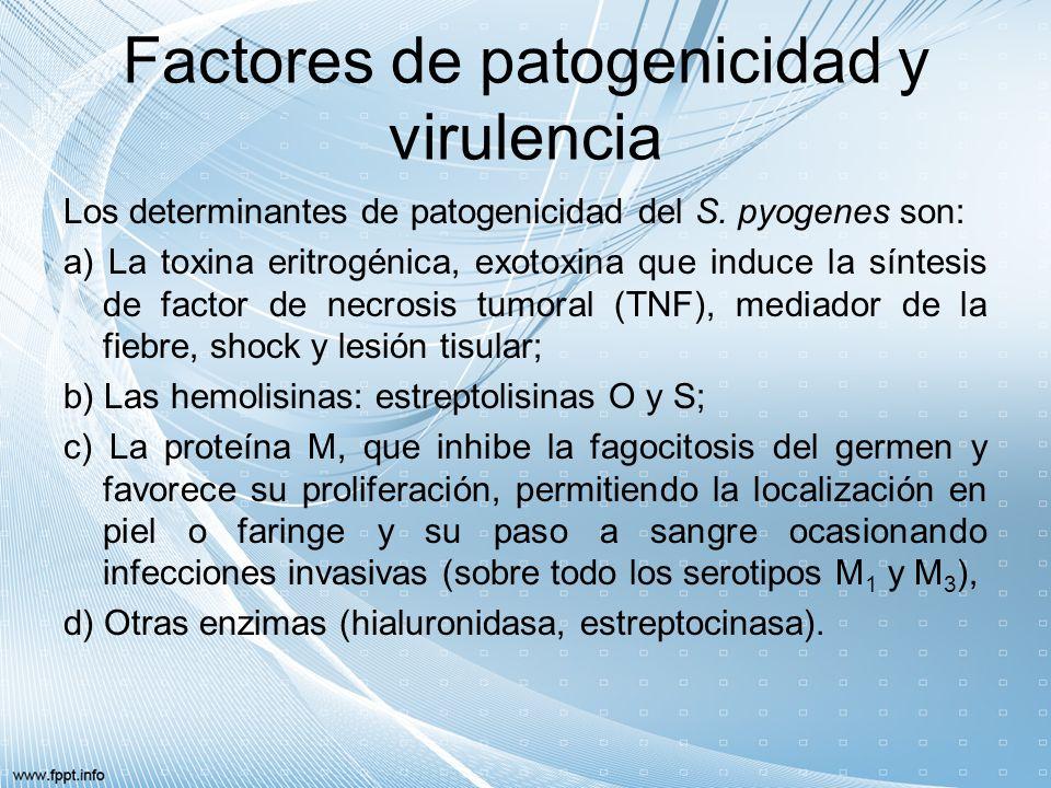 Factores de patogenicidad y virulencia