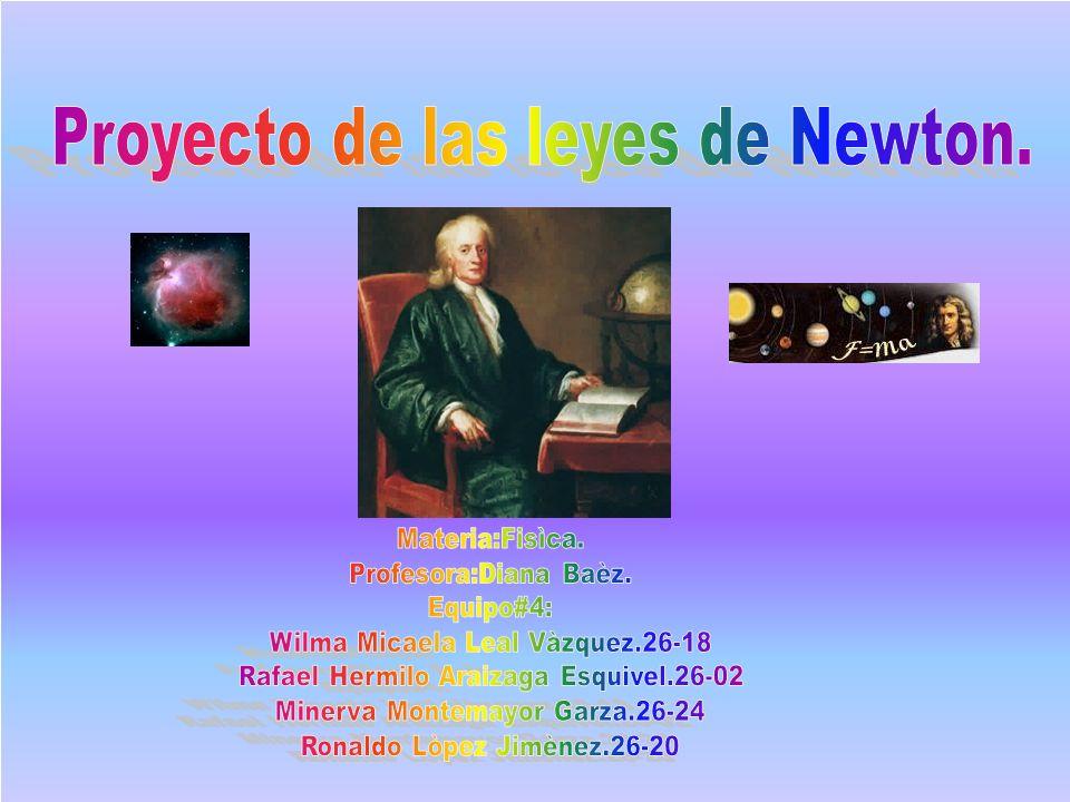 Proyecto de las leyes de Newton.
