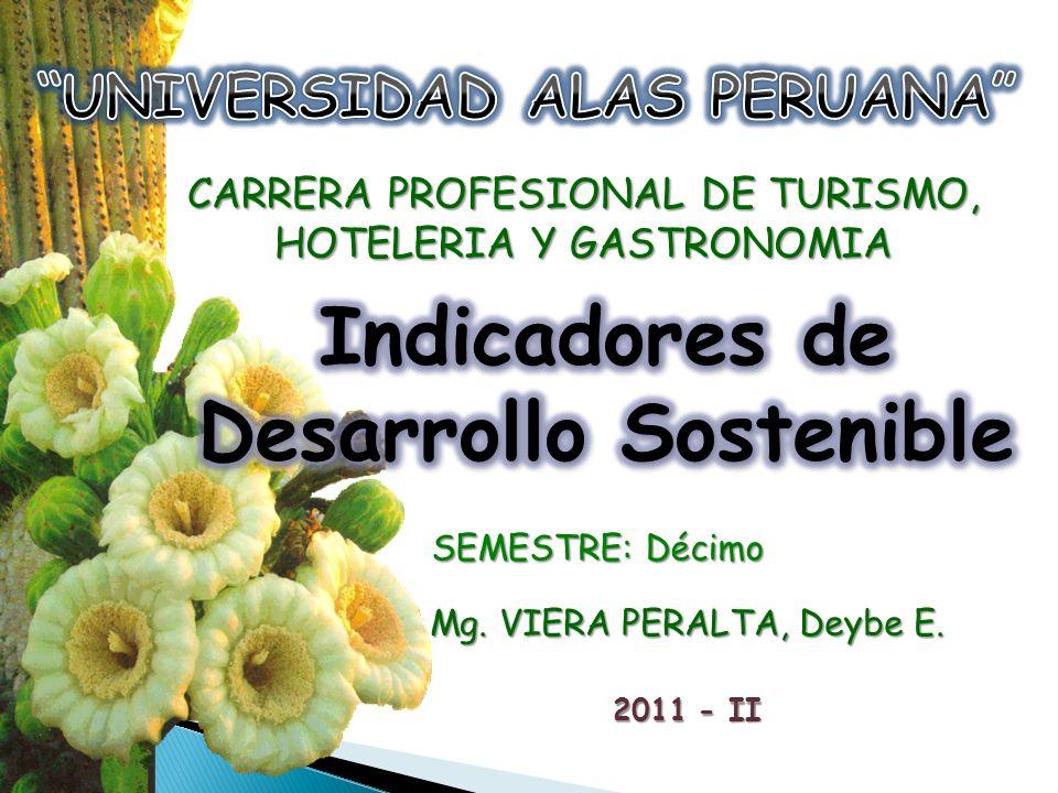 UNIVERSIDAD ALAS PERUANA Indicadores de Desarrollo Sostenible