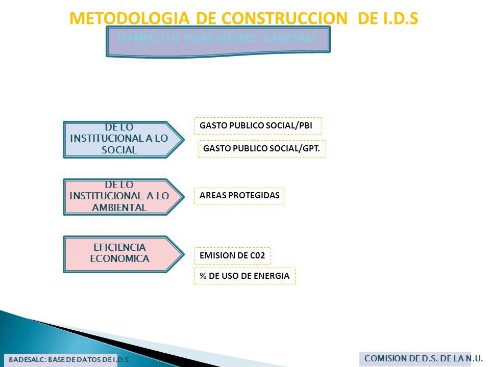 METODOLOGIA DE CONSTRUCCION DE I.D.S