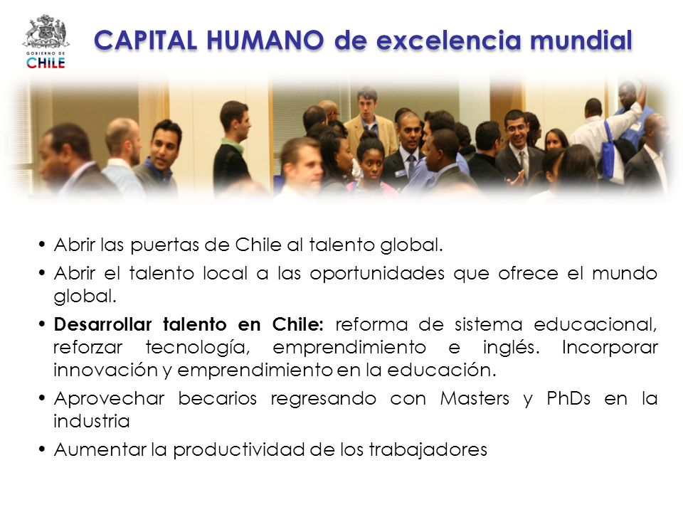 CAPITAL HUMANO de excelencia mundial