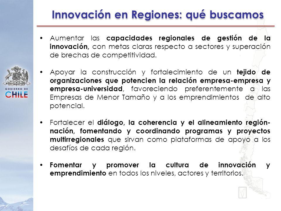 Innovación en Regiones: qué buscamos