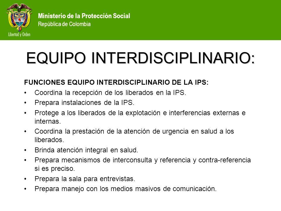 EQUIPO INTERDISCIPLINARIO: