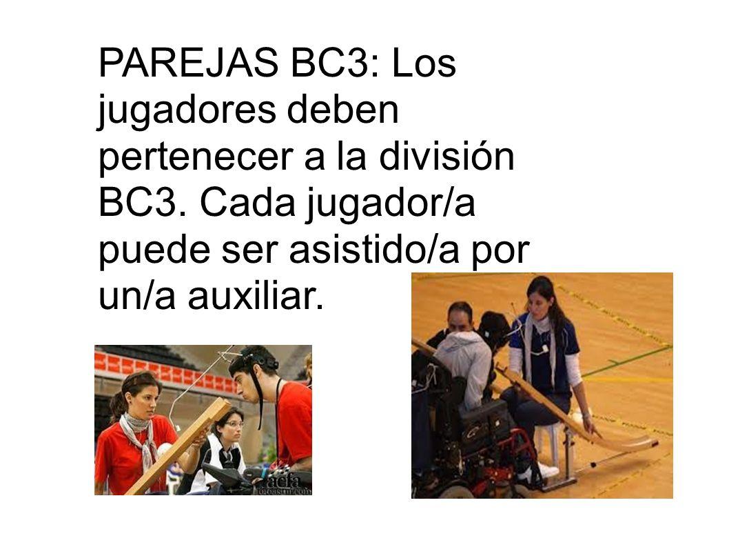 PAREJAS BC3: Los jugadores deben pertenecer a la división BC3
