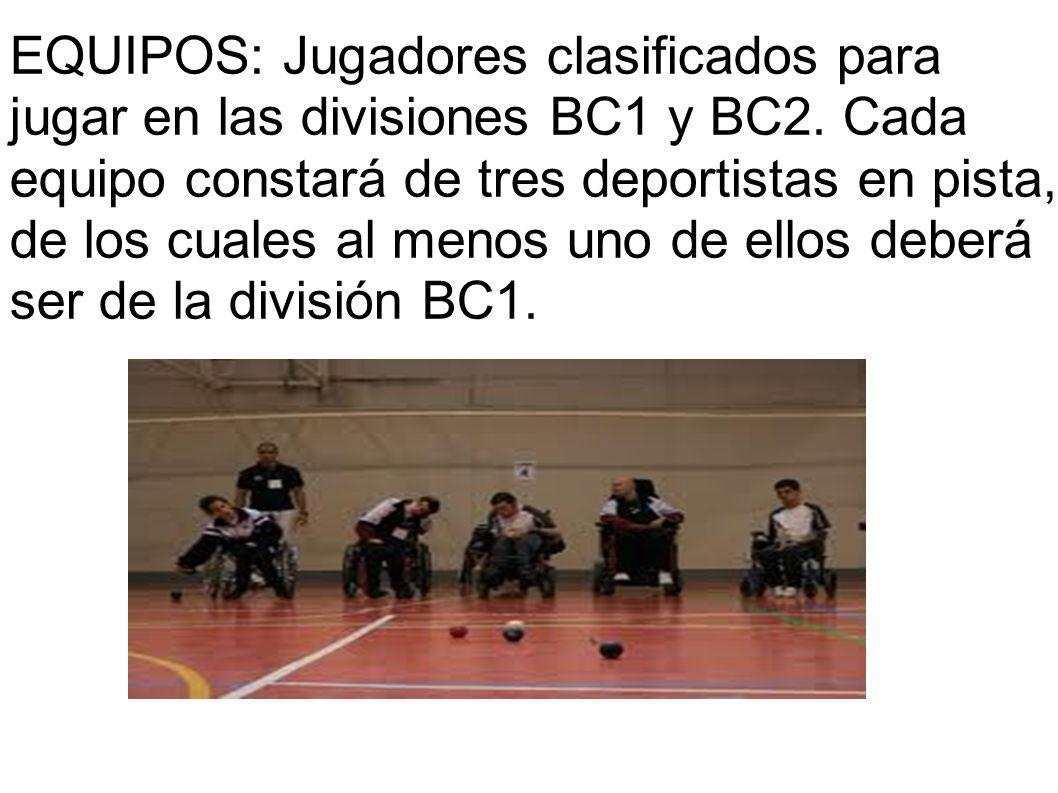 EQUIPOS: Jugadores clasificados para jugar en las divisiones BC1 y BC2