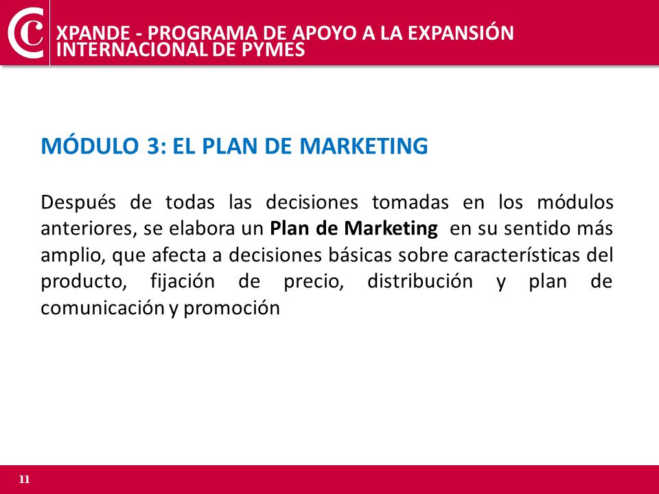 MÓDULO 3: EL PLAN DE MARKETING