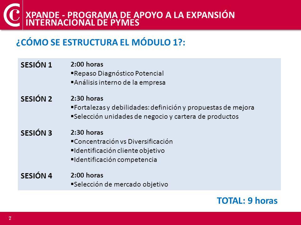 XPANDE - PROGRAMA DE APOYO A LA EXPANSIÓN INTERNACIONAL DE PYMES