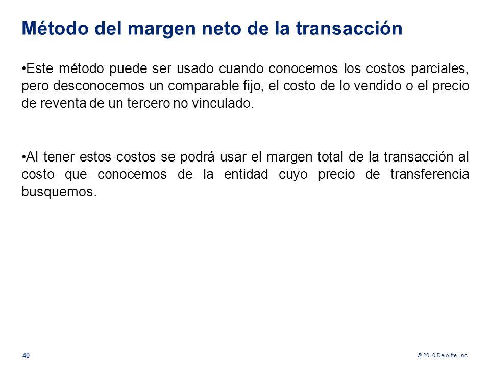 Método del margen neto de la transacción