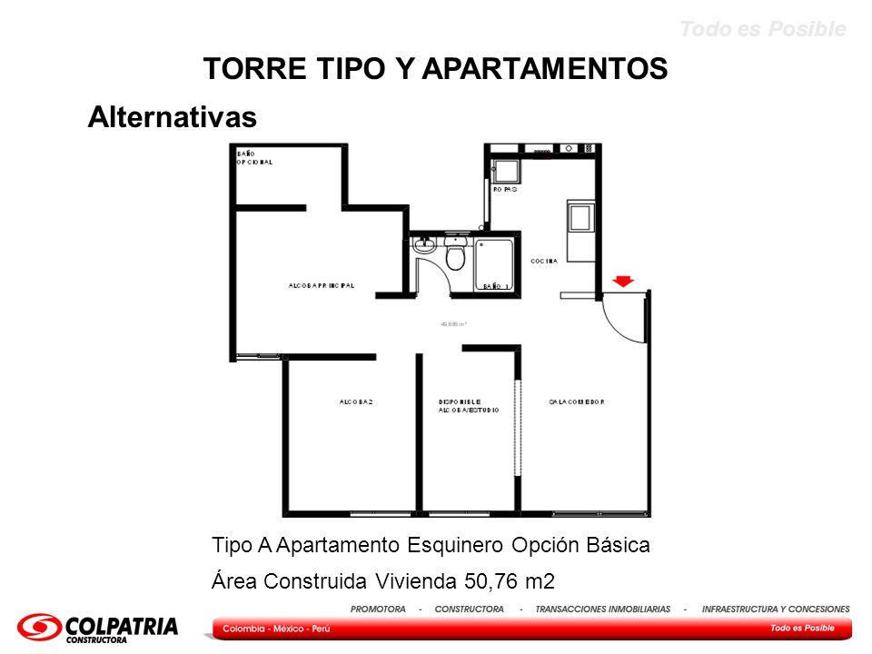 TORRE TIPO Y APARTAMENTOS