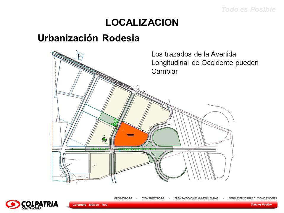 LOCALIZACION Urbanización Rodesia