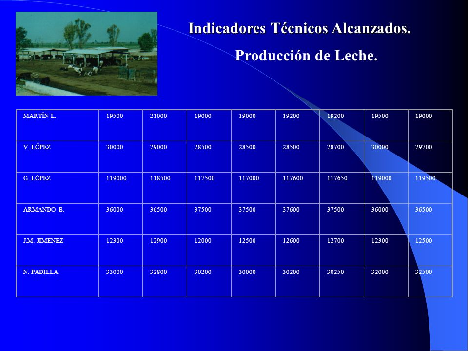 Indicadores Técnicos Alcanzados.