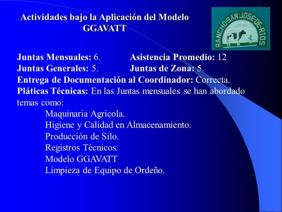 Actividades bajo la Aplicación del Modelo GGAVATT