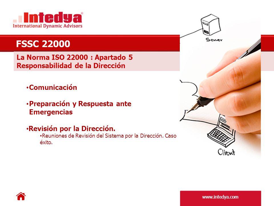 FSSC 22000 La Norma ISO 22000 : Apartado 5