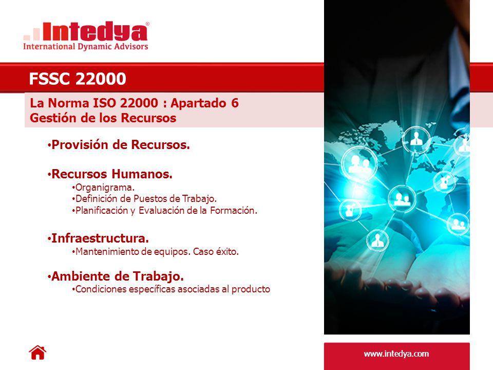 FSSC 22000 La Norma ISO 22000 : Apartado 6 Gestión de los Recursos