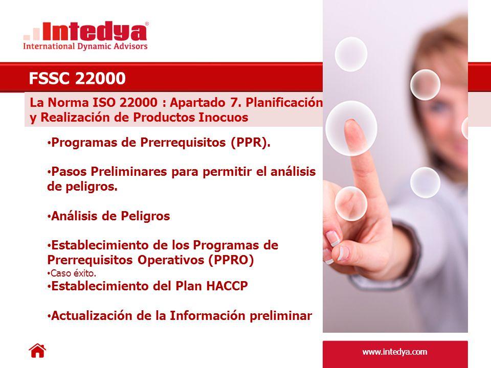 FSSC 22000 La Norma ISO 22000 : Apartado 7. Planificación