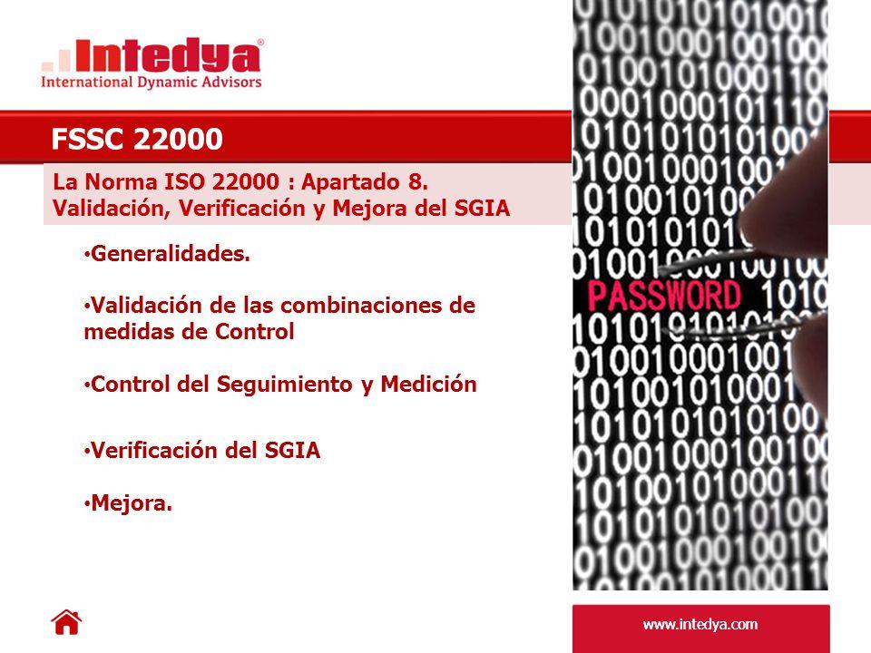 FSSC 22000 La Norma ISO 22000 : Apartado 8.