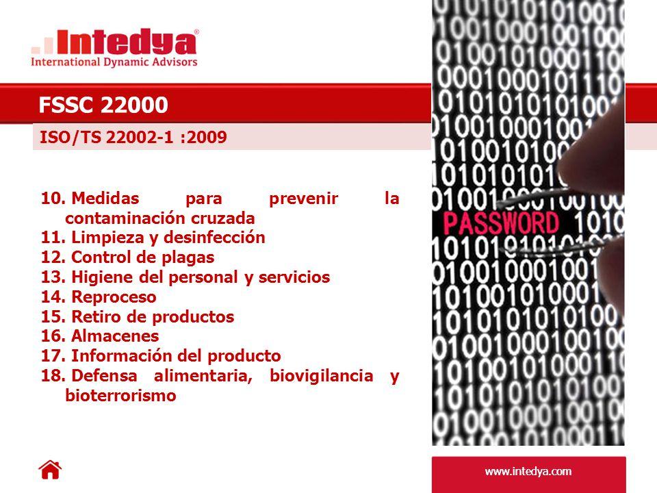 FSSC 22000 ISO/TS 22002-1 :2009. Medidas para prevenir la contaminación cruzada. Limpieza y desinfección.