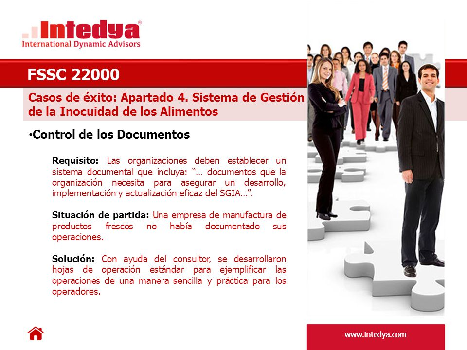 FSSC 22000 Casos de éxito: Apartado 4. Sistema de Gestión