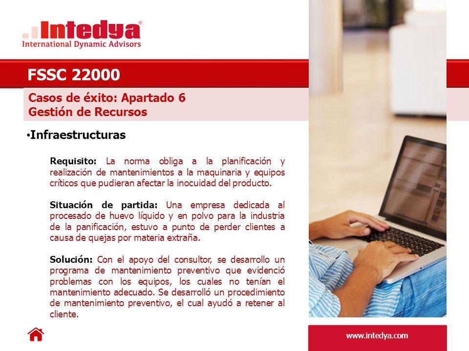 FSSC 22000 Casos de éxito: Apartado 6 Gestión de Recursos
