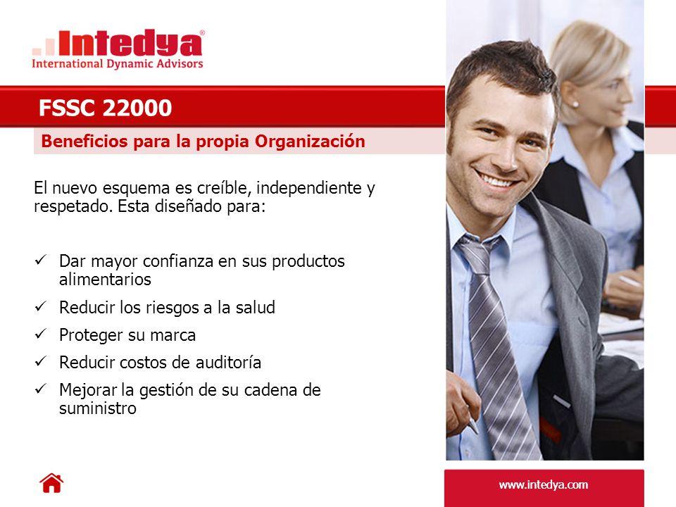 FSSC 22000 Beneficios para la propia Organización
