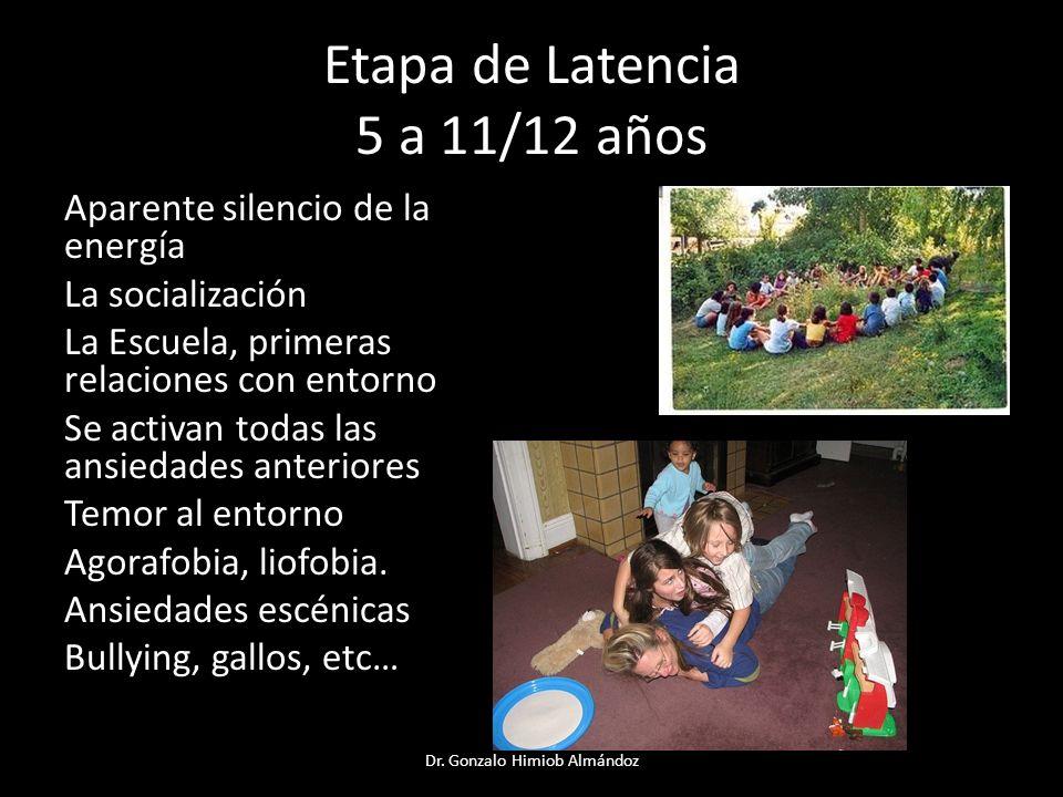 Etapa de Latencia 5 a 11/12 años