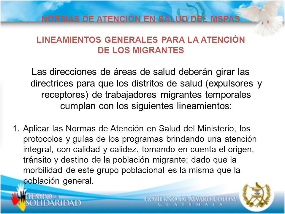 NORMAS DE ATENCIÒN EN SALUD DEL MSPAS