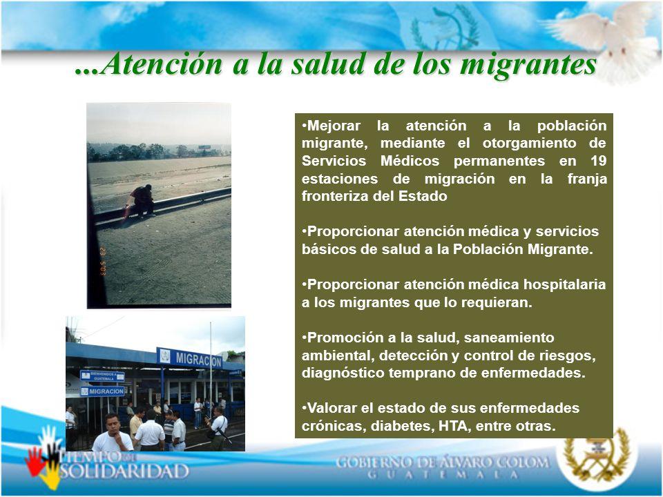 ...Atención a la salud de los migrantes