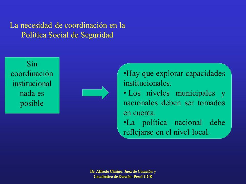 La necesidad de coordinación en la Política Social de Seguridad