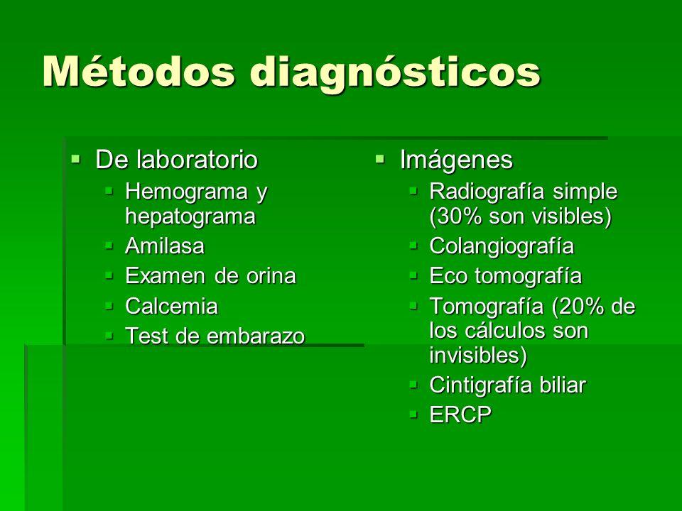Métodos diagnósticos De laboratorio Imágenes Hemograma y hepatograma
